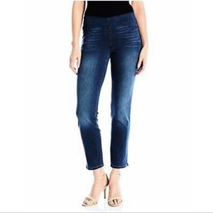 NYDJ Alina Pull On Ankle Dark Lift Tuck Jeans -4